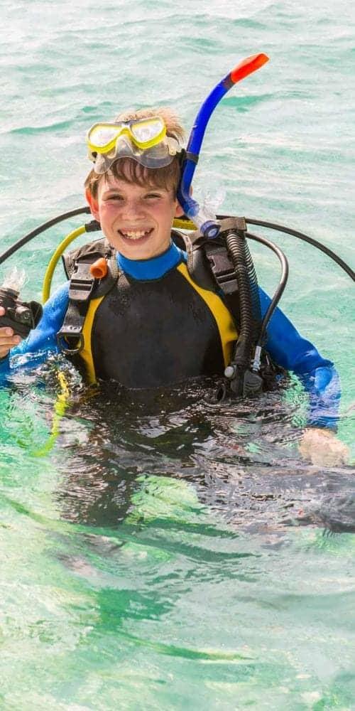 scuba diving age