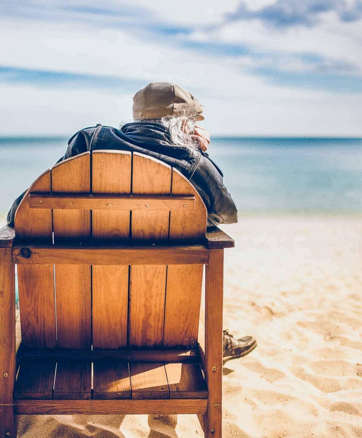 beach chair for an older person