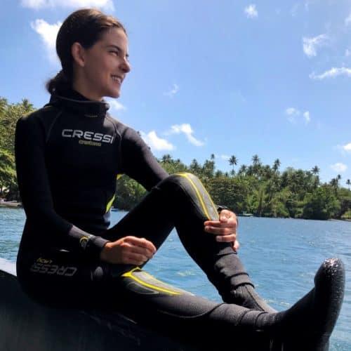 Carmen Romano scuba diving
