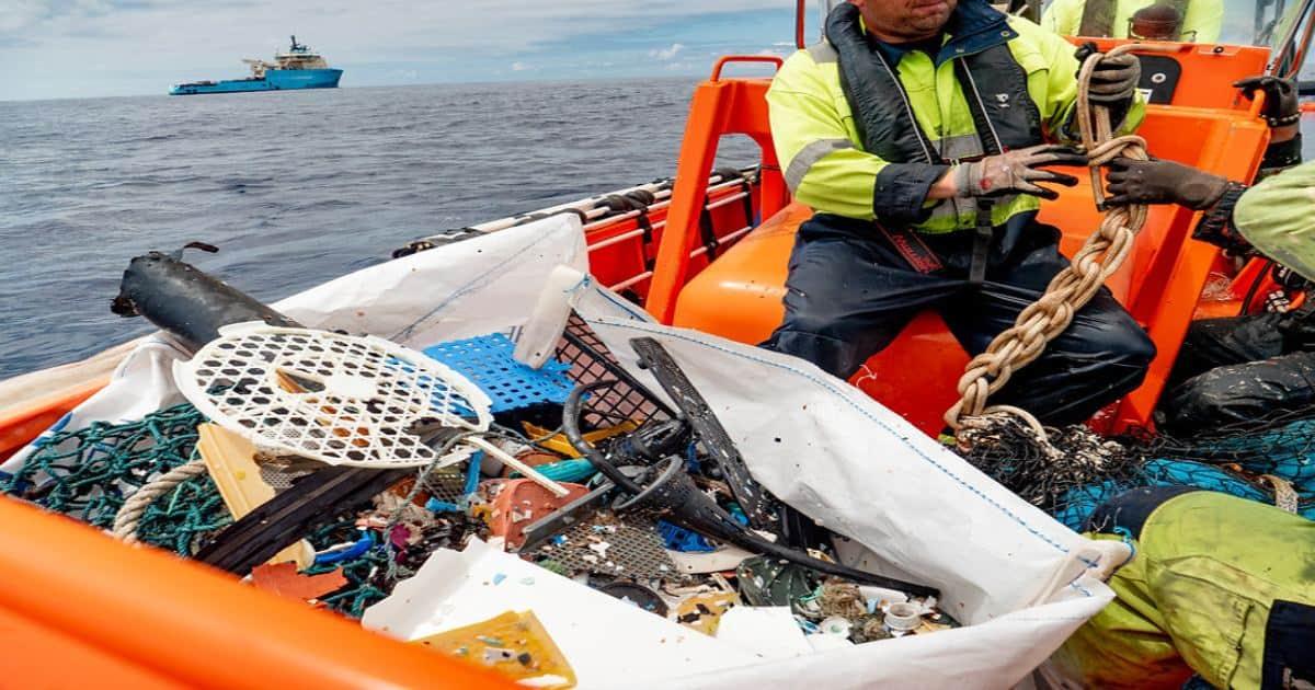 fishing for garbage