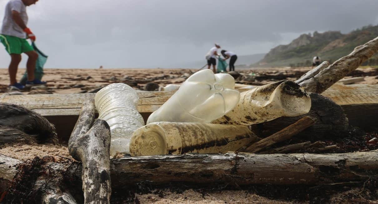 plastic waste on beaches