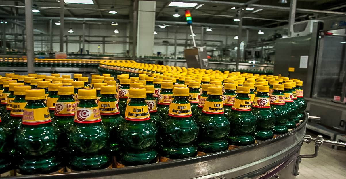 mass production of single use plastic bottles