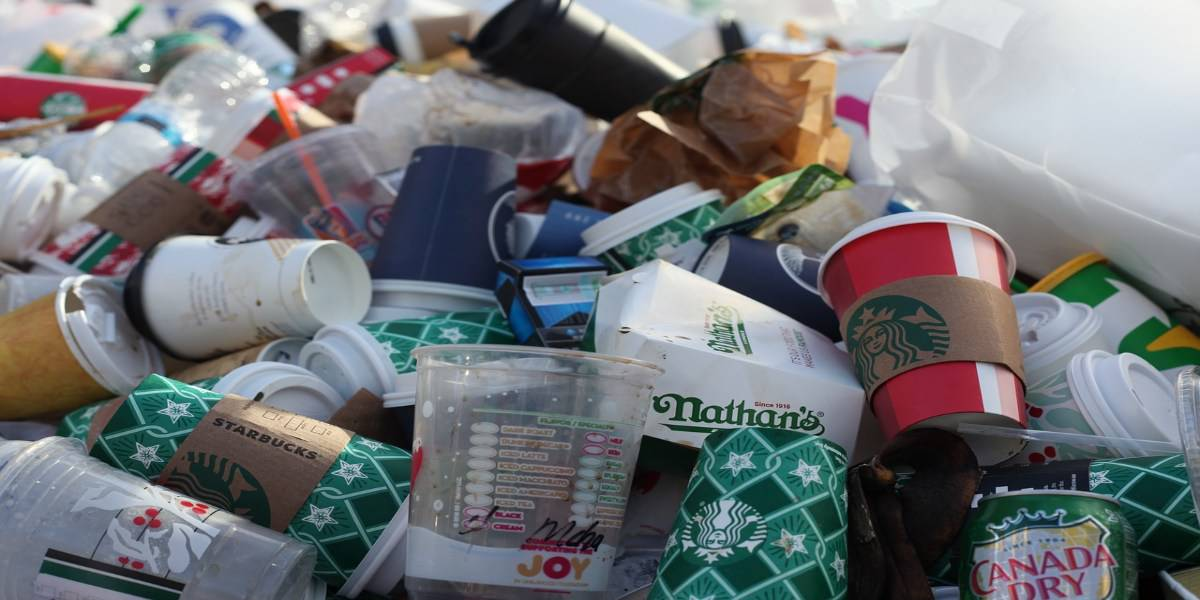 plastic cups and other plastic waste